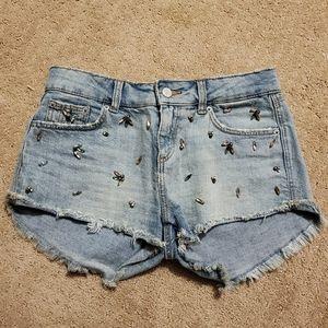 Zara denim Shorts w. Gem Details